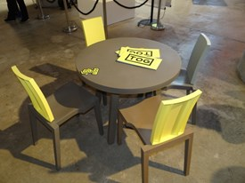 TOG: chairs in polypropylene and tables in polyethylene
